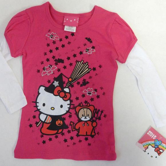 a5e30f9df Sanrio Shirts & Tops | New Hello Kitty 3t Halloween Top Toddler Girl ...